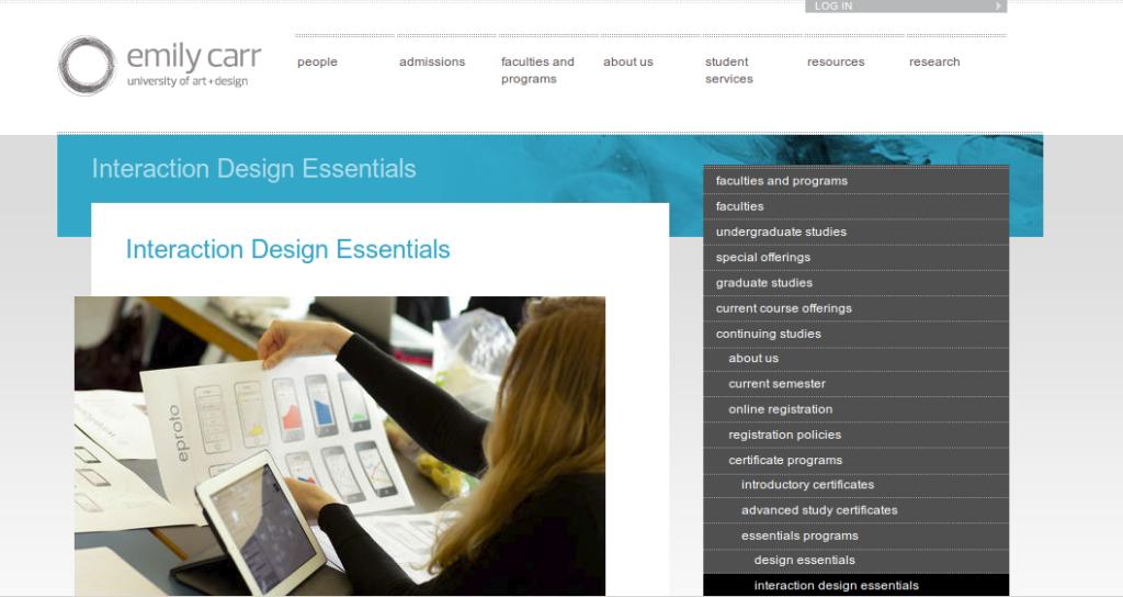 curriculum development for Emily Carr University of Art + Design