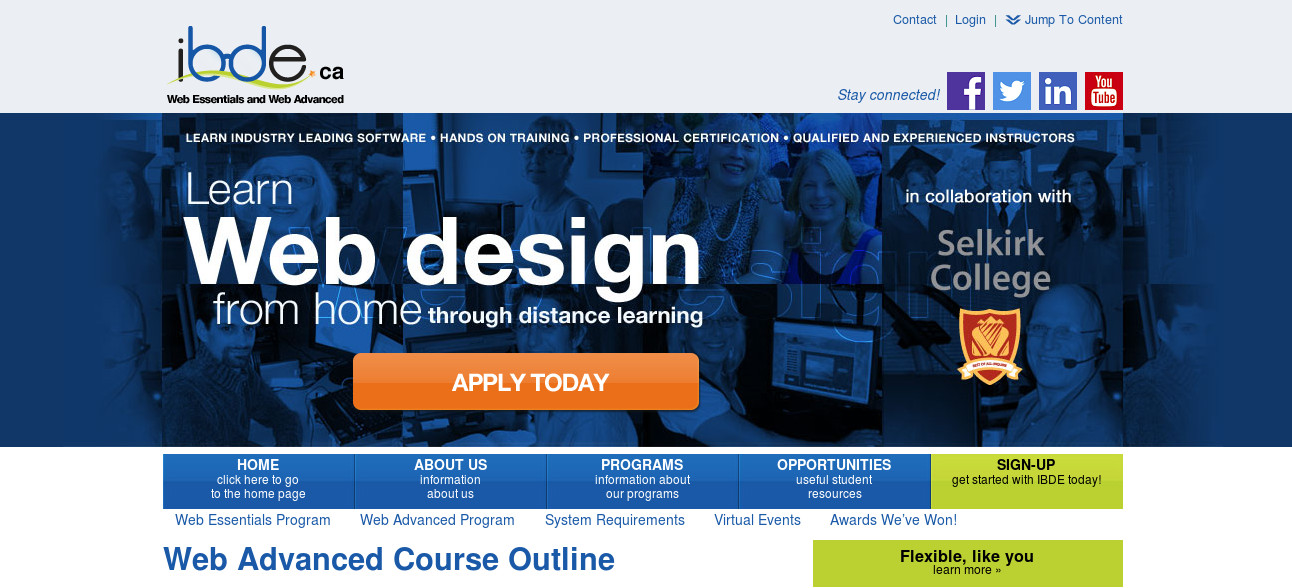 IBDE Web Advanced and OptoMedia